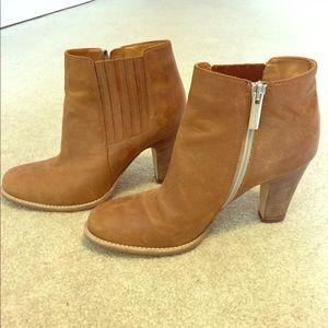 Aquatalia tan leather booties